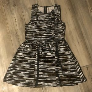 Black and White H&M A-line Dress